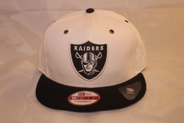 New Era Cap 9Fifty NFL Oakland Raiders Leather Strapback cap