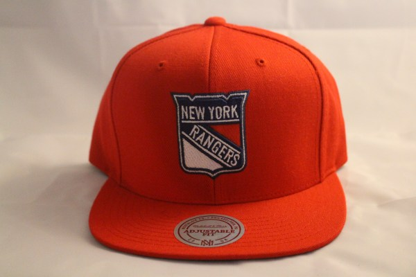 NEW YORK RANGERS NHL MITCHELL and NESS Red Snapback wool cap