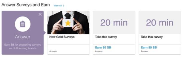 Get Swagbucks SB Points for Taking Surveys