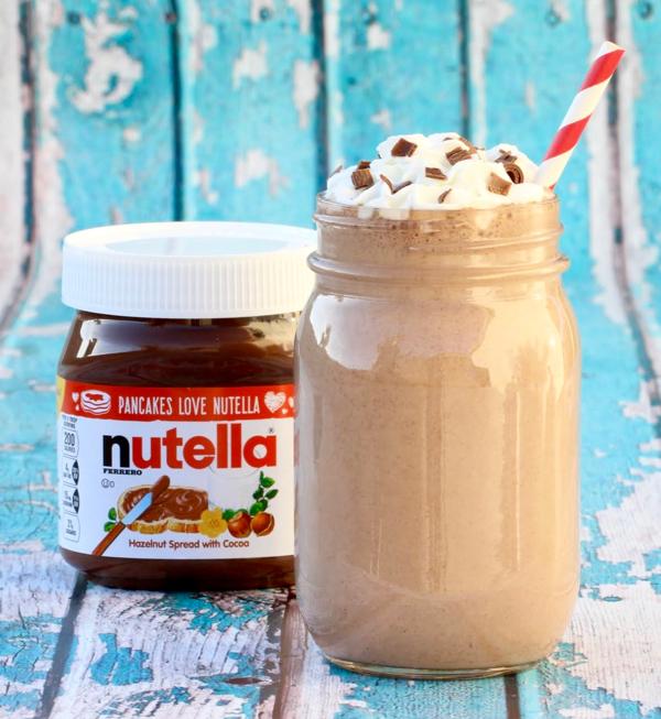 Nutella Milkshake Recipe from NeverEndingJourneys.com