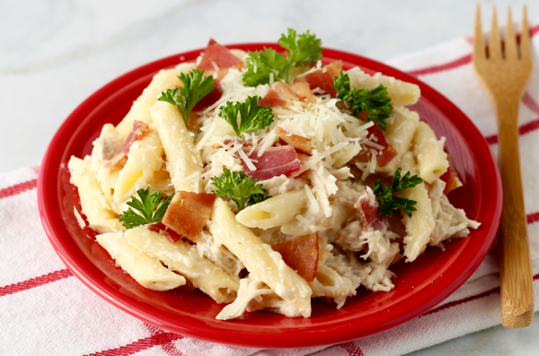 Bacon Alfredo Chicken Pasta Recipe