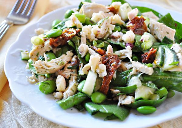 Mediterranean Chicken Spinach Salad