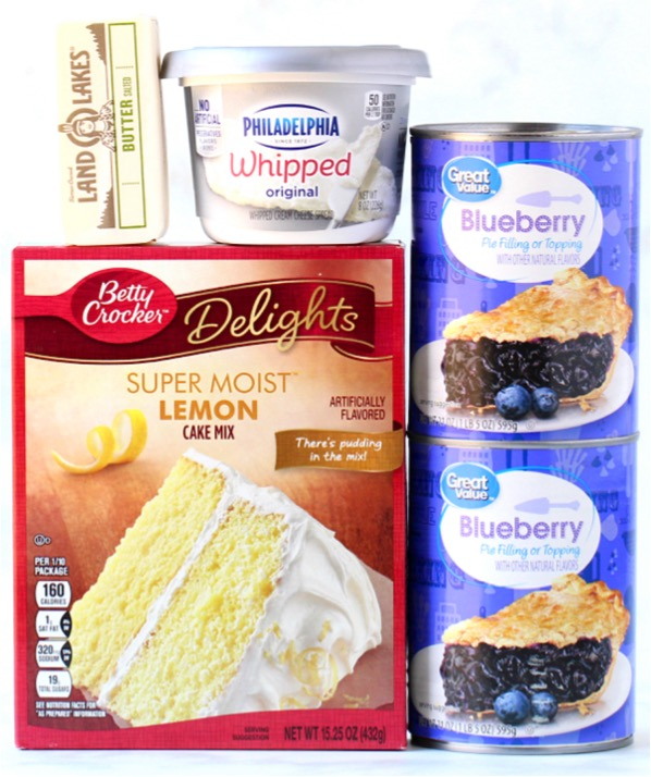Lemon Blueberry Cheesecake Dump Cake Recipe
