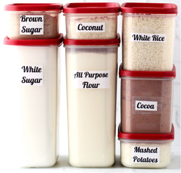 Kitchen Organization Tips Use Square Containers