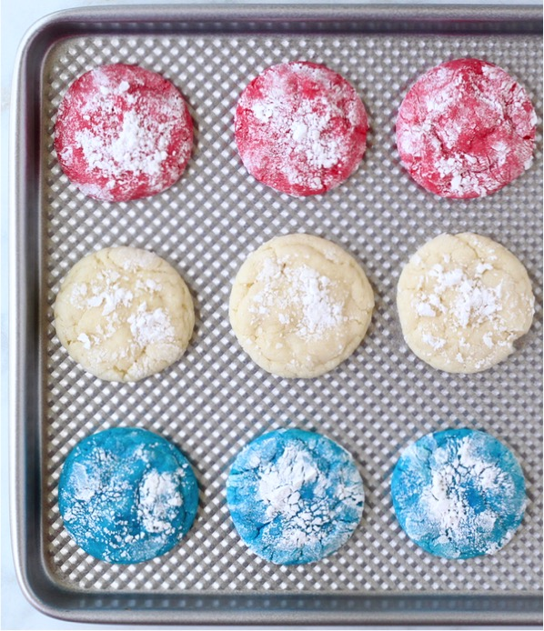 Red White and Blue Cookies With Few Ingredients