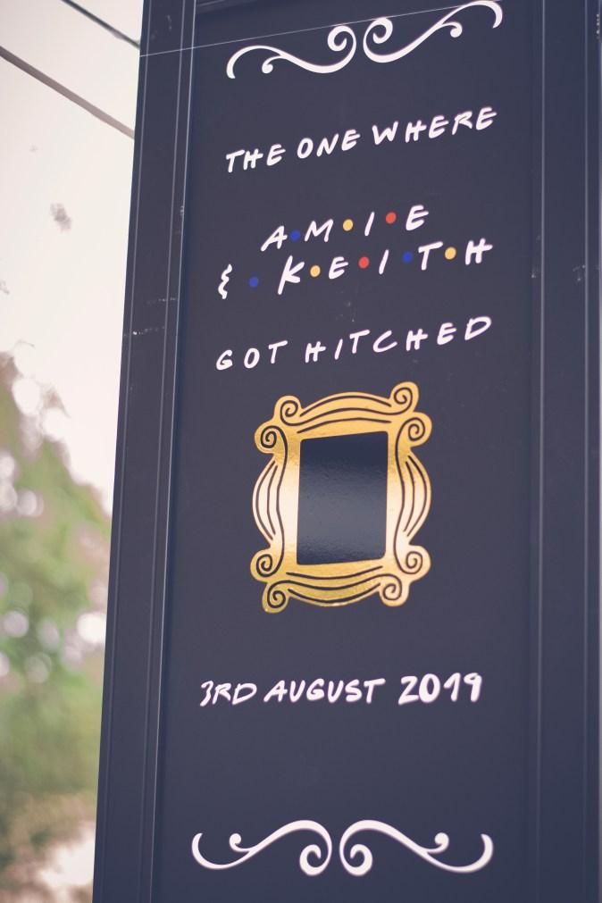 friends wedding sign