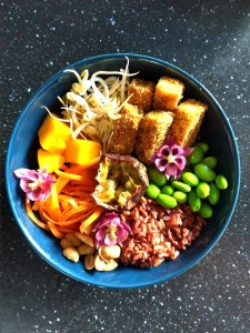 Fruity Red Rice Bowl