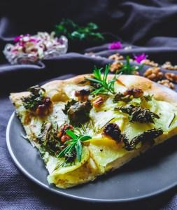 Potato, Kale & Walnut Pizza