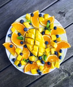 Mango & Blueberry Fruit Platter