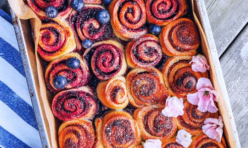 Blueberry & Maple Rolls
