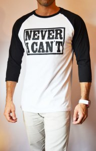TB0366 camiseta beisbolera blanca y negra manga 3:4 lateral