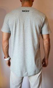 TB0638 camiseta manga corta long basic gris trasera