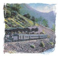 Yosemite Steam Train postcard
