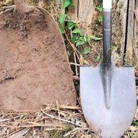 HUGE shovel found in back yard