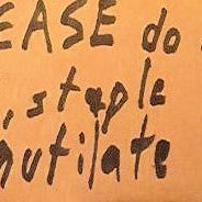Mailing instructions scrawled on package