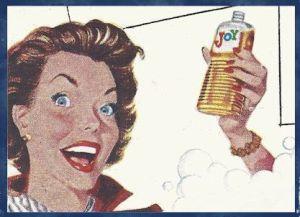 Enjoying Joy dishwashing liquid