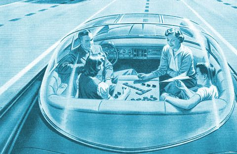 Old concept of the car of the future