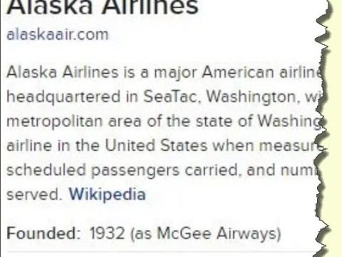 Alaska Air Wiki excerpt