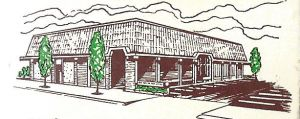 New Office of Credit Union ink drawing