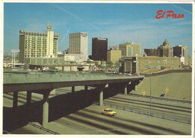 Yellow station wagon is SOLE SURVIVOR in El Paso (Postcard)