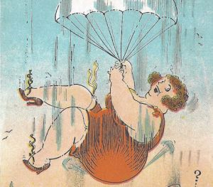 1933 Cartoon postcard
