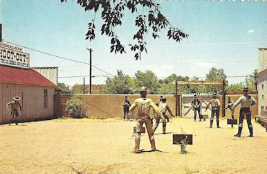 Postcard depicting famous shootout in Tombstore, Arizona.