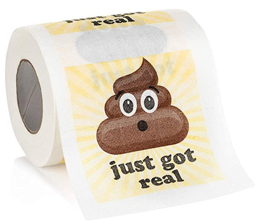 Shit just got real toilet paper AKA loo roll