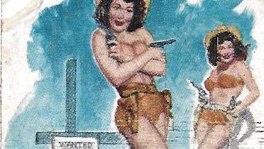 Matchbook; Two gun gal at Louie's cafe