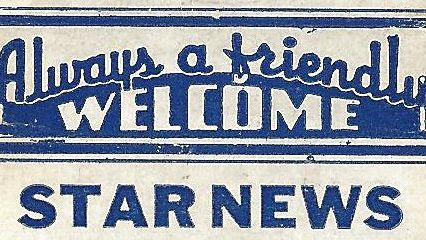 Always a Friendly Welcome matchbook motto