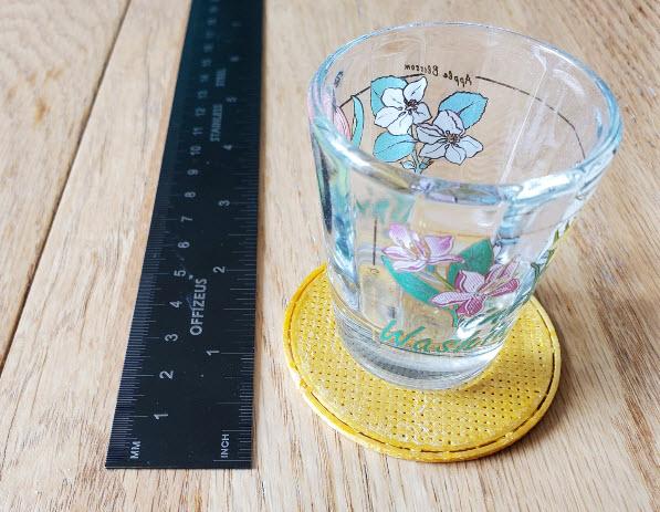 3d printed shot glass coaster, I reckon.