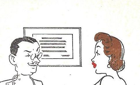 1950's comic card; the doctor visit.