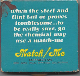 This Matchbook is from some chemical manufacturer(?) Match-me out of Palm Springs
