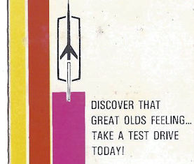 Discover that Great Olds Feeling dealership matchbook