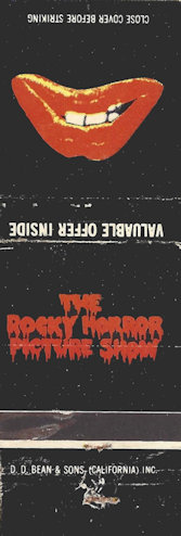 Rocky Horror Picture Show matchbook
