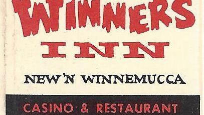 Winner's Inn and Star broiler match book