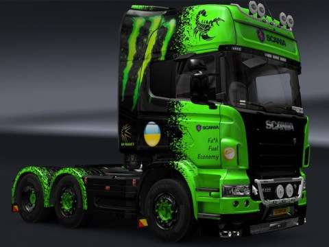Custom truck in European truck simulatior game