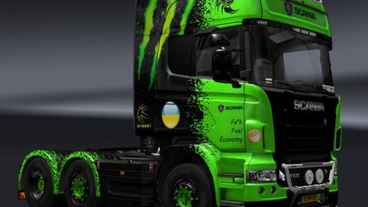Custom truck in European truck simulatior game
