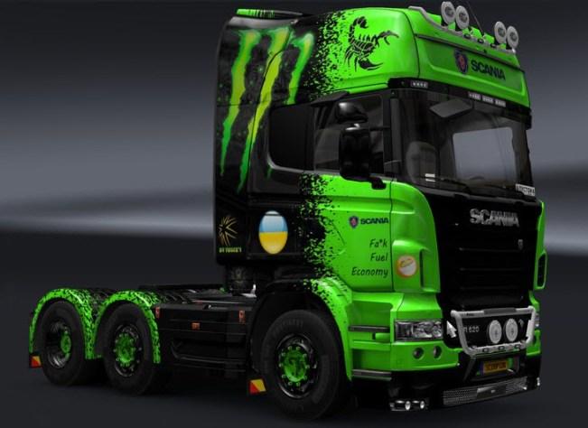 Mod truck Scorpion from European truck simulator