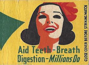 Doublemint gum matchbook cover illustration