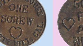 reproduction cathouse token.