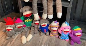 Sock Monkey Family