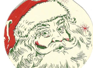 Santa Claus promotional matchbook