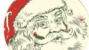 Santa Claus promotional matchbook