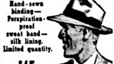Old Paragon Hat shop White Beaver ad