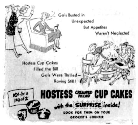 Hostess cupcake 1950's ad.