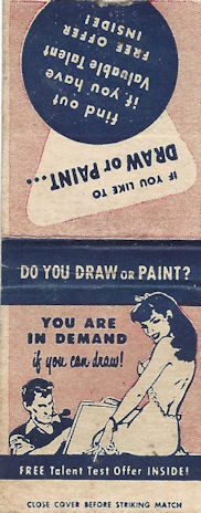 Matchbook for drawing school