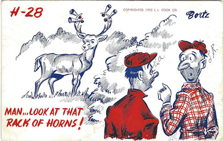 Comic postcard for hunters