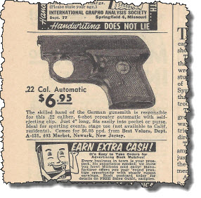 1960 Spare Time magazine gun ad
