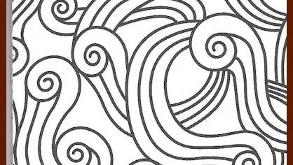 Color this to calm your mind.