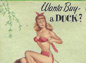 bathing beauty and duck matchbook